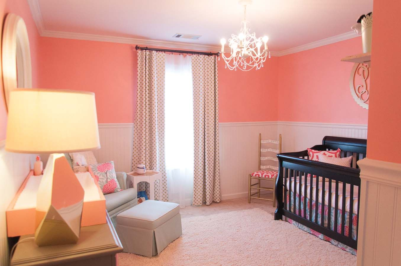 Harlow S Room Accent Wall Sherwin Williams Youthful Coral