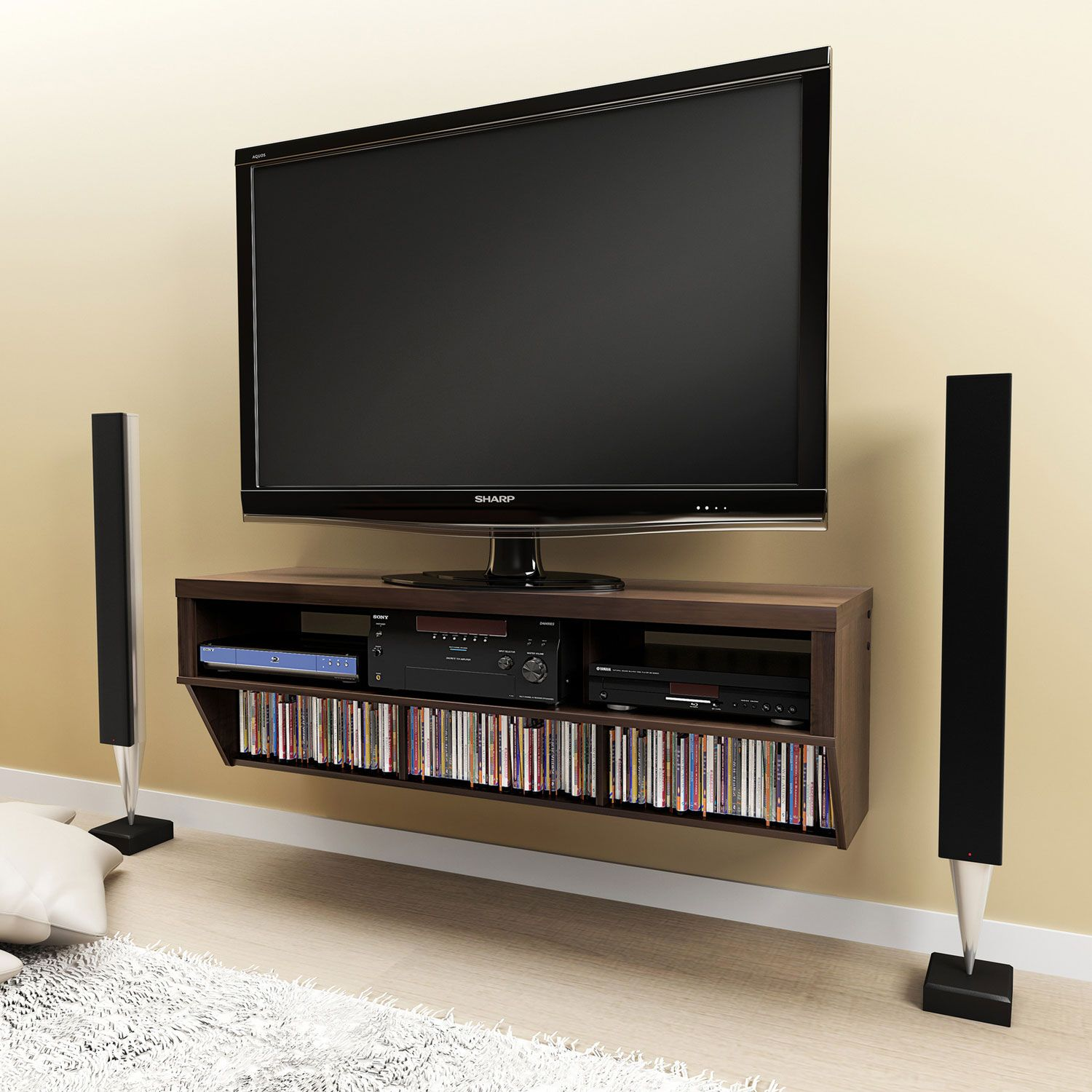 Painting Of Cool Flat Screen Tv Stands With Mount Wall Mount Entertainment Center Entertainment Center Media Console Diy