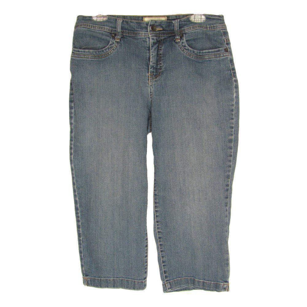 a720e345a2 Sonoma Capri Jeans 10 Stretch Denim Pants Blue Low Rise Stonewashed Womens  #Sonoma #Cropped #Summer