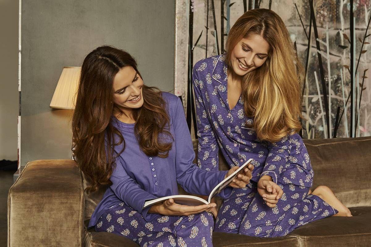 ringella women pyjama 6411245 6411246 das sch ne oberteil aus interlock mit knopfleiste und. Black Bedroom Furniture Sets. Home Design Ideas