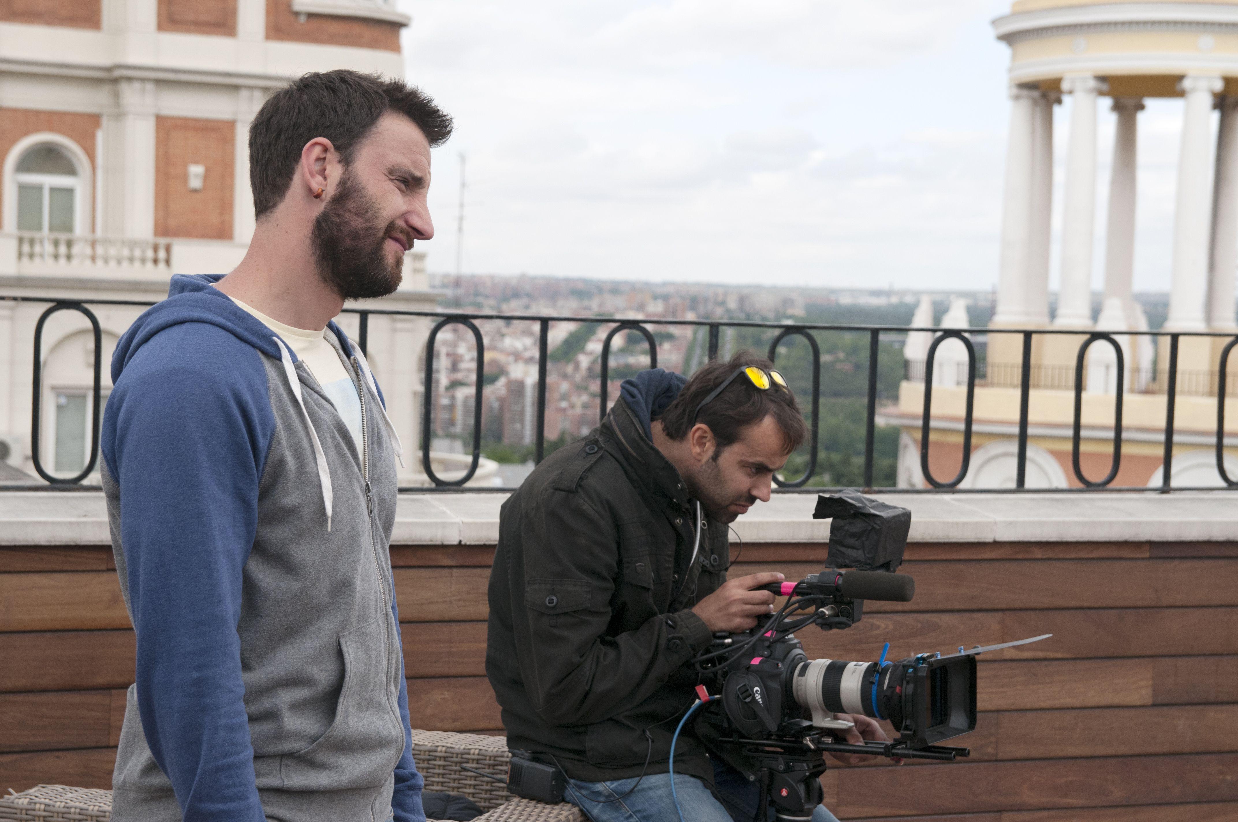 """Nuestro equipo durante el rodaje de la campaña de Kalise 2014 """"Entrevistas"""""""