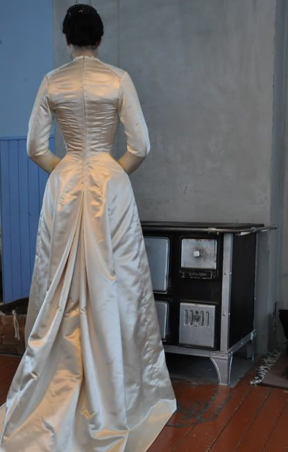 Before the Automobile: coutil 1880's natural form princess line dress w/out the brocade vest