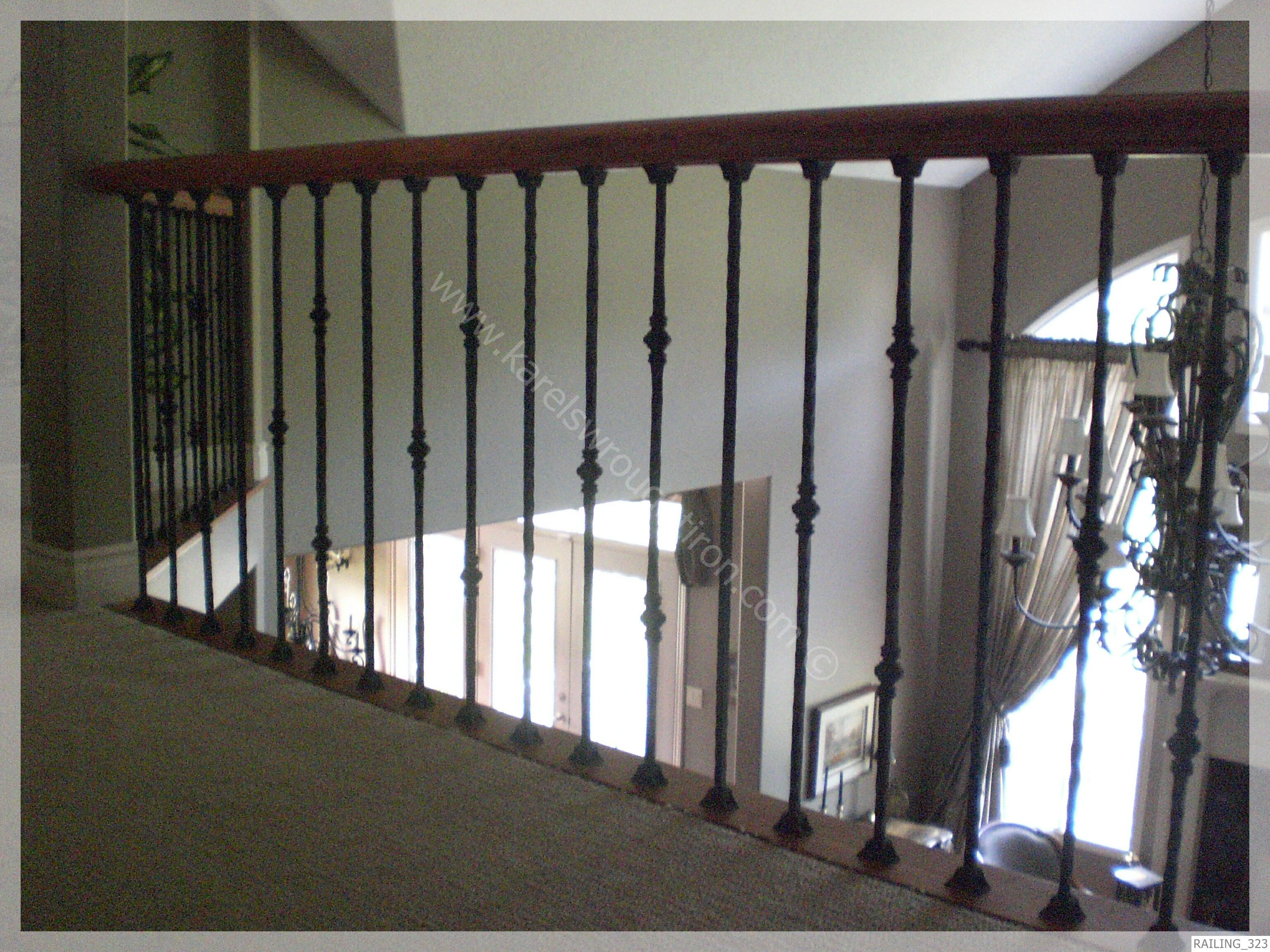 Rod Iron Banisters   Wrought Iron Railing / RAILING_323.JPG. Wrought Iron  StaircaseMetal Spindles ...