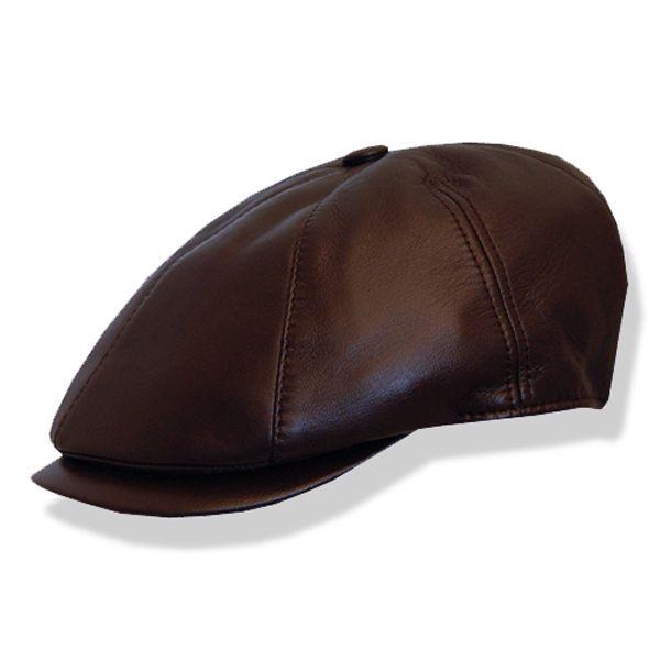 Borsalino Paneled Leather Driving Cap  a1810435b39