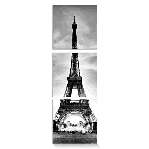 Malen Nach Zahlen Eiffelturm Tryptichon Mnz 017 Malen Nach