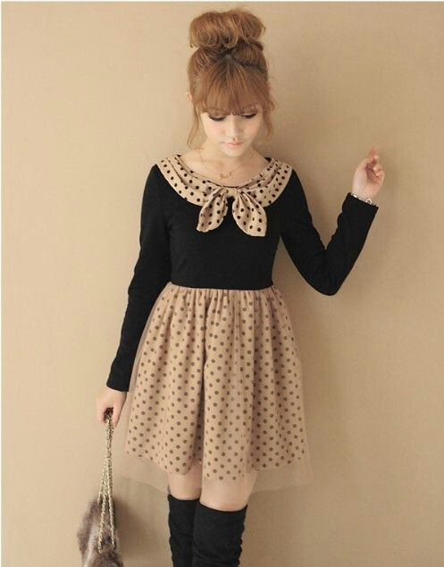 2020a86fec Japanese Fashion Gyaru. This would be cute with a fitted black or tan pea  coat(: