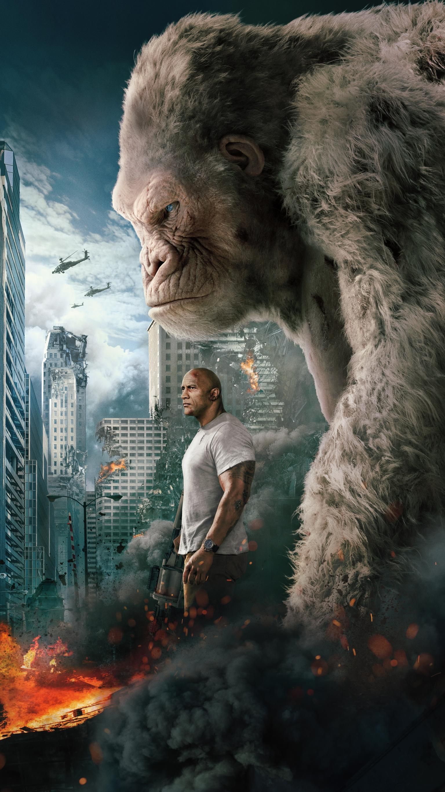Rampage 2018 Phone Wallpaper Moviemania Rampage Movie Full Movies Movie Sites