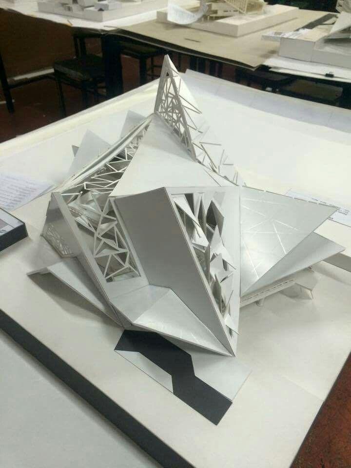 Folding Architecture Theatre Concept Student Futuristic Visualization