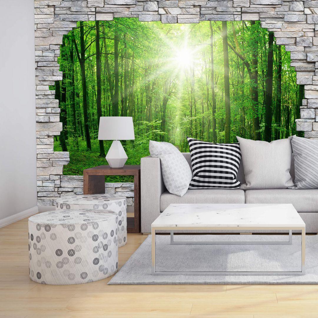 3d Fototapete Papiertapete Sunny Forest Mauer Fototapete Tapeten Wohnzimmer Tapeten