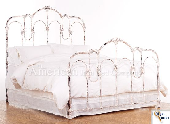 vintage antiques metal beds frames american iron bed company authentic - Antique Queen Bed Frame