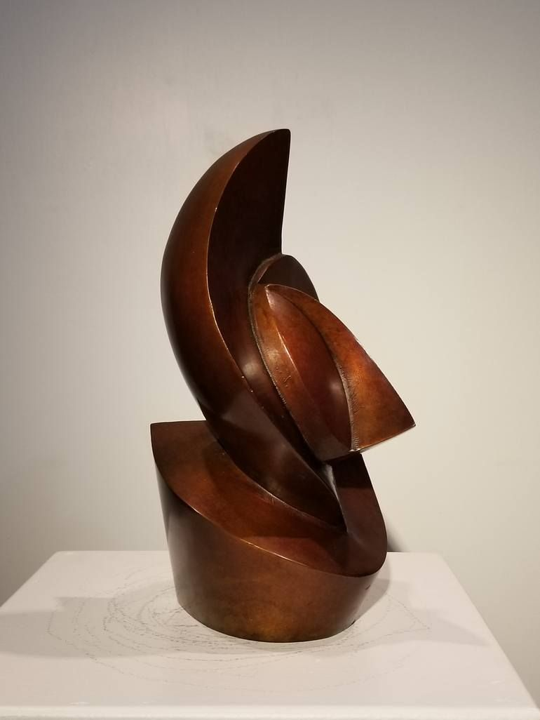 Photo of Original Abstract Sculpture by Ronald Anderson | Abstract Art on Bronze | eyes