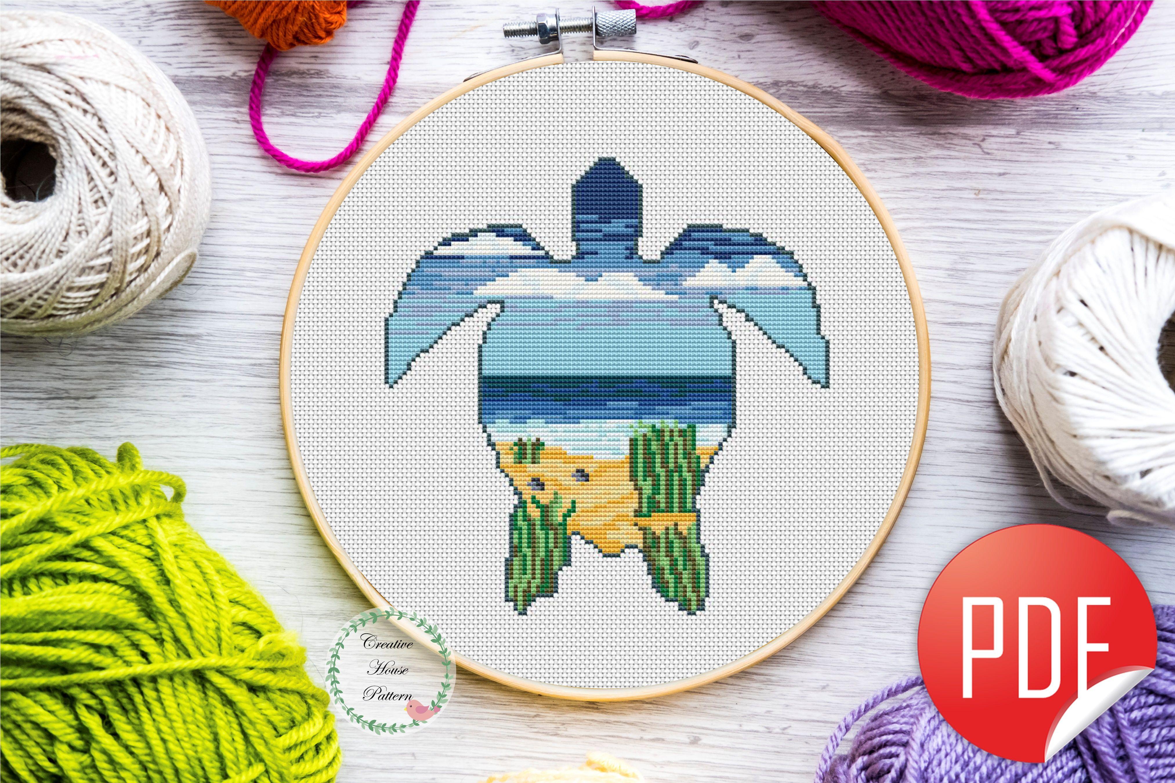 Chart Counted Cross Stitch Pattern Needlework Xstitch DIY Craft Winter Harbor