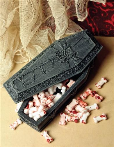 BONE CANDY IN A GOTHIC COFFIN from Victorian Trading Co