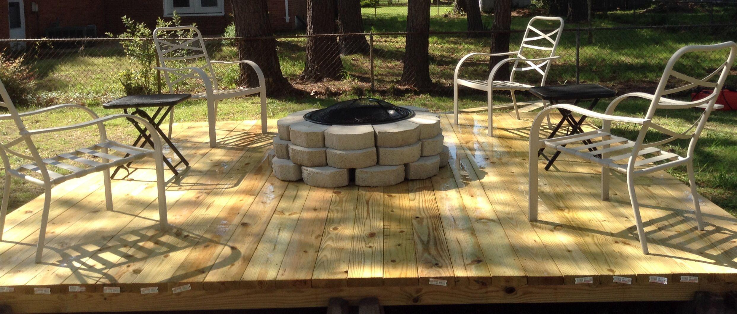 Pin By Linda Guangorena On Backyard Renos Deck Fire Pit