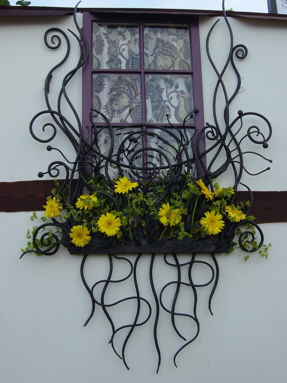 Very Cool Windowbox   Bex Simon Blacksmith Artist   Window Box Railing Wrought  Iron