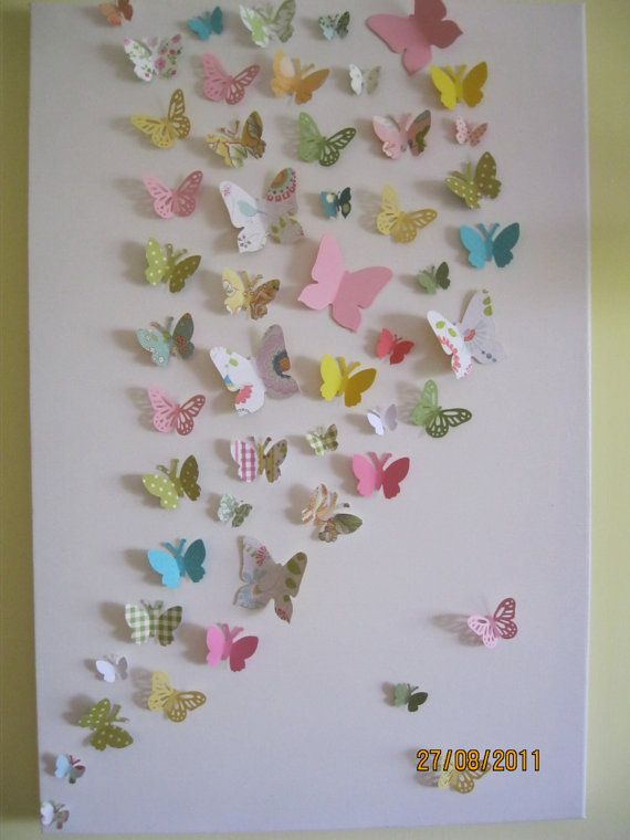 Butterfly Wall Art / Nursery / Childrenu0027s / Teen Room Decor / Home Decor /  Ready To Ship Part 69