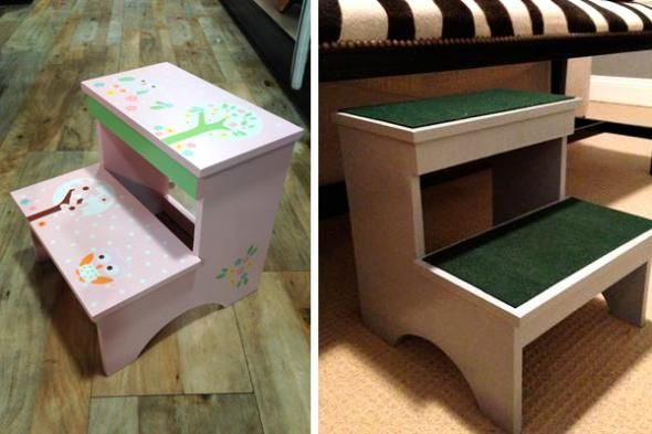 Admirable Diy Pet Steps Give Your Dog Easy Access To Taller Places Andrewgaddart Wooden Chair Designs For Living Room Andrewgaddartcom