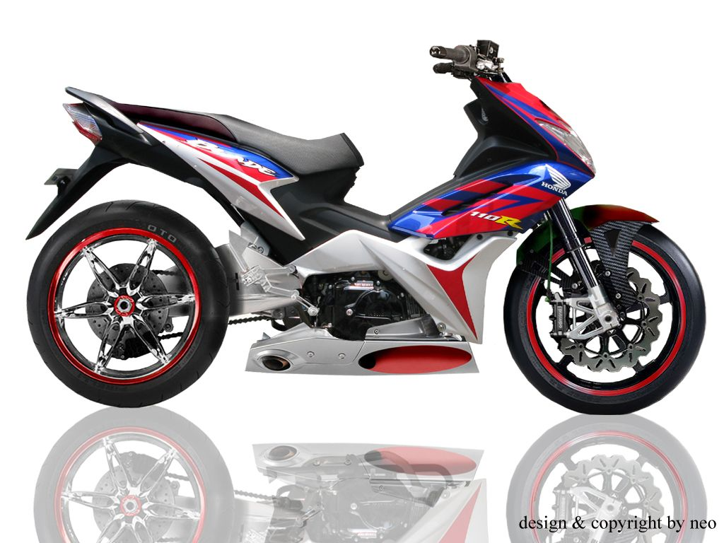 hight resolution of honda wave 110 rs modified