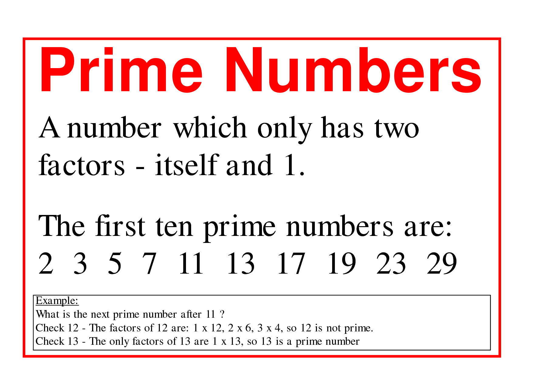 What is a prime number 95