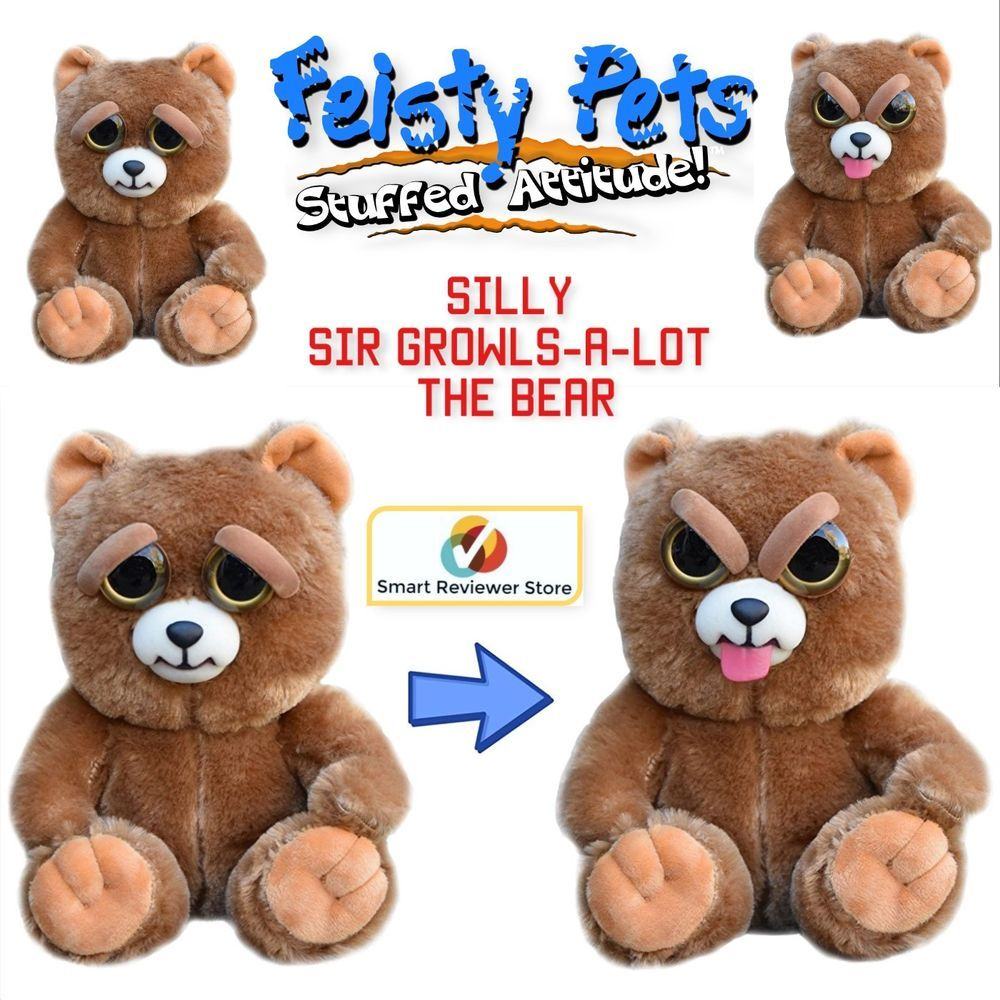 Feisty Pets Cute To Doofus Stuffed Animal Plush Squeeze Toy Prank Growls A Lot Feistypets Animals Toys Pets
