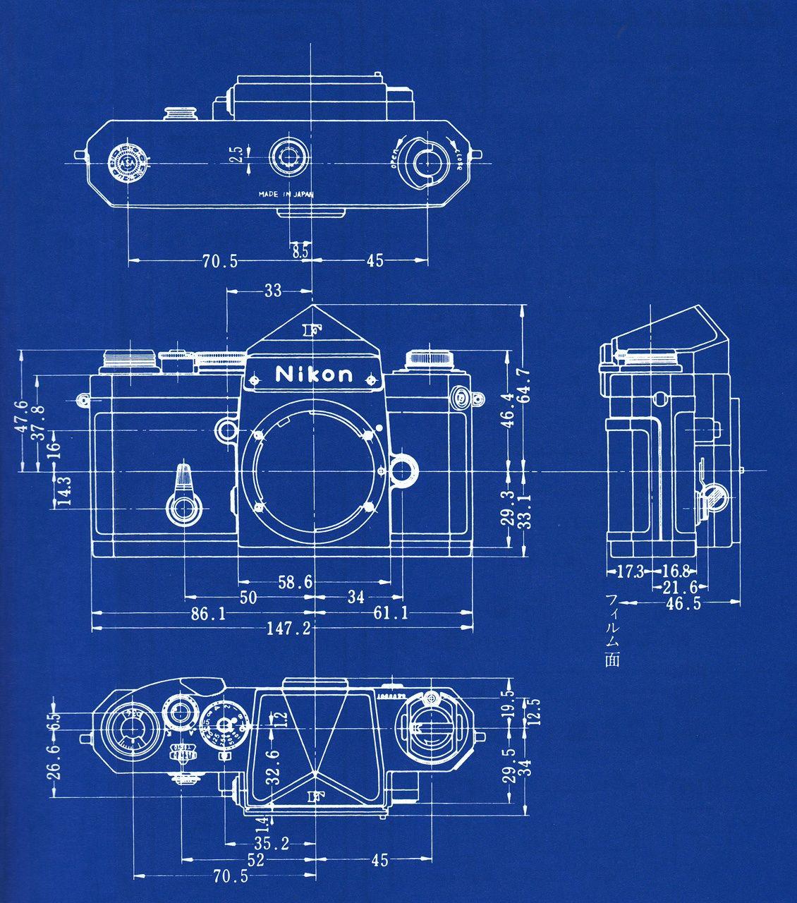 Nikon F Blueprint Cameras Camera Slr Diagram F2 Dslr Reviews D5500