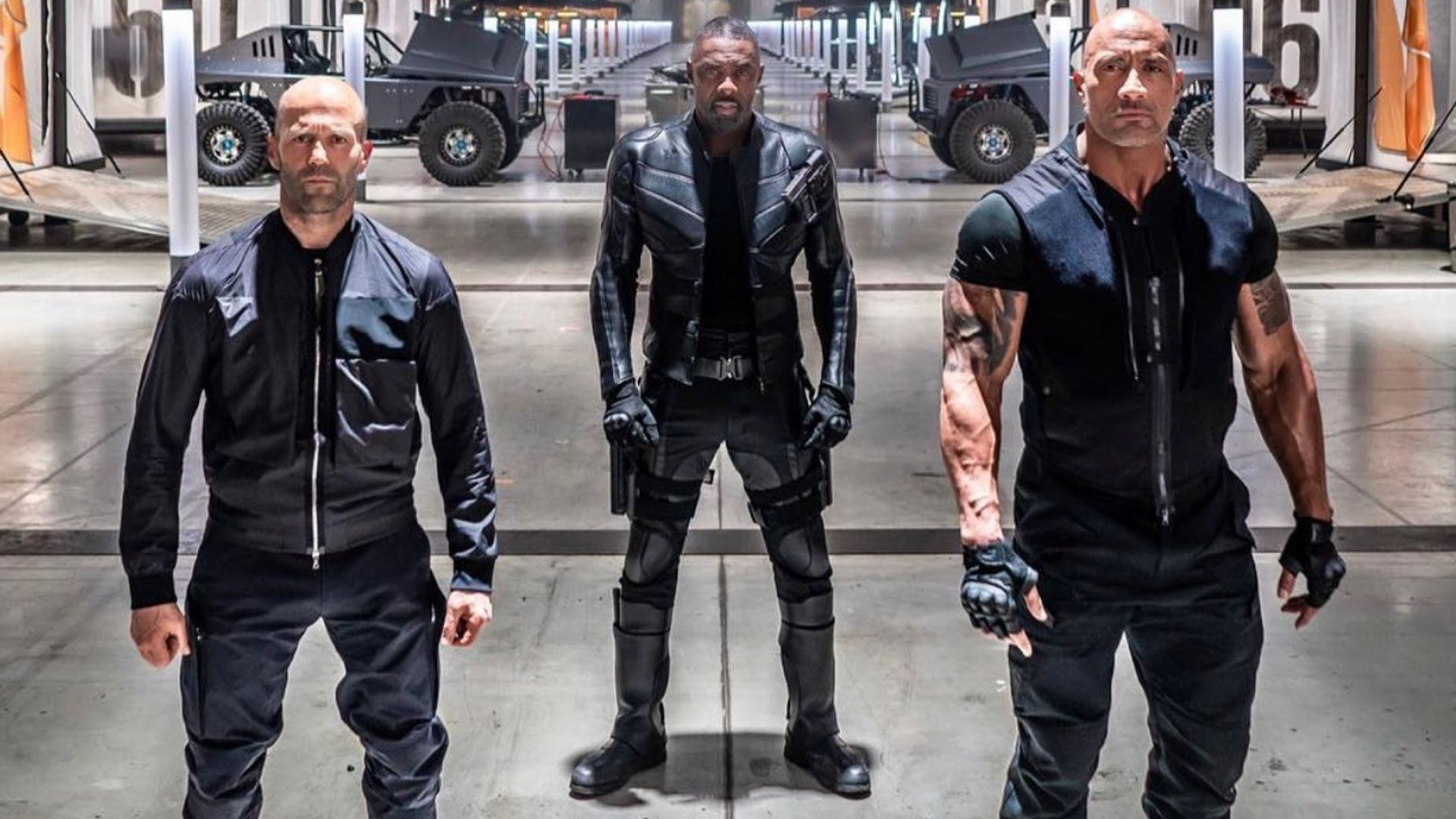 New Hobbs And Shaw Photo Features Dwayne Johnson Jason Statham And Idris Elba Looking Like Badasses Geektyrant Dwayne Johnson Fast And Furious Hobbs