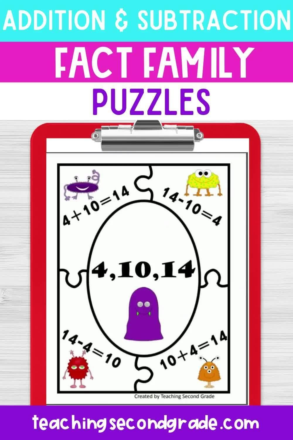 Addition And Subtraction Fact Families Video Video Subtraction Facts Fact Families Addition And Subtraction Related addition and subtraction facts
