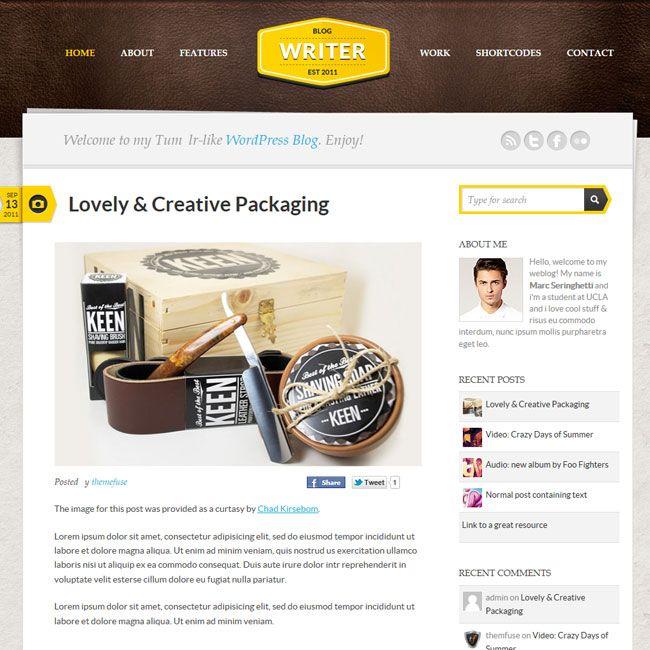 Writer – Personal WordPress Theme | Premium Wordpress Themes - Theme ...