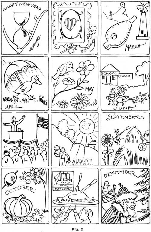 Months of the Year Coloring Page, from: http://fichadeingles ...