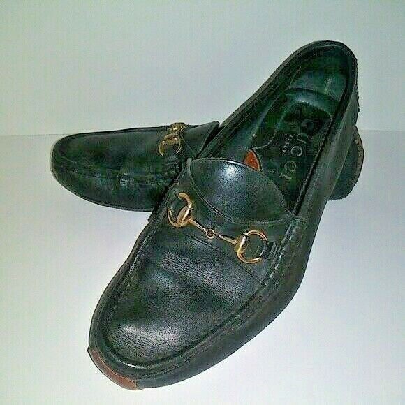 394febcaeeb (eBay Sponsored) Gucci HorseBit Driving Loafers Size 10M Black   Brown Leather  Mens 10 M. Find this Pin and more on Casual Shoes