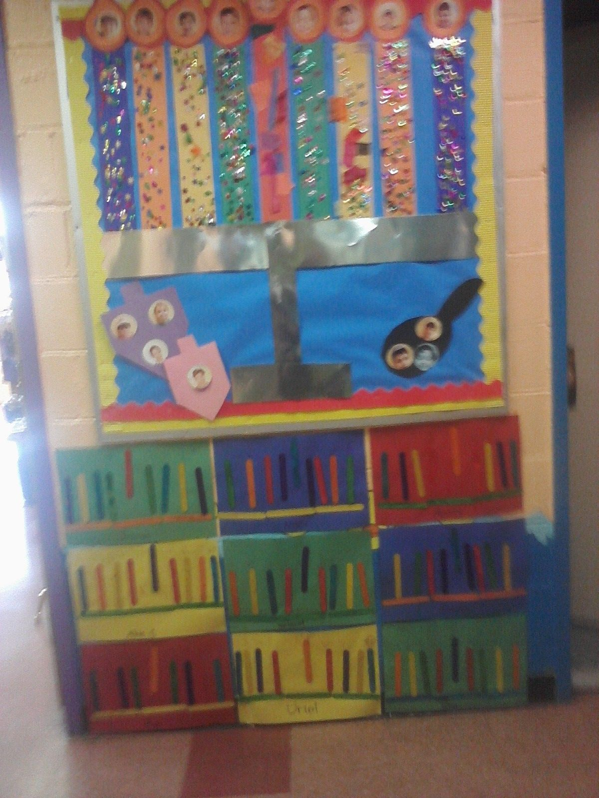 One Chanukah Bulletin Board With Images