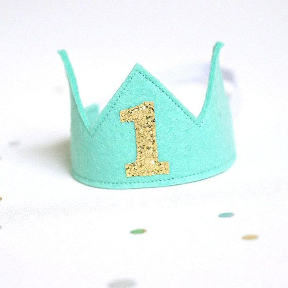 First Birthday Crown Green
