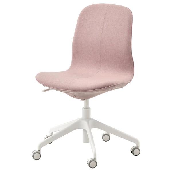 Langfjall Office Chair Gunnared Light Brown Pink White Ikea Office Chair White Office Chair Ikea