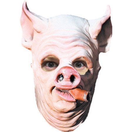 Pig Out Adult Halloween Latex Mask Accessory, Men\u0027s, Multicolor