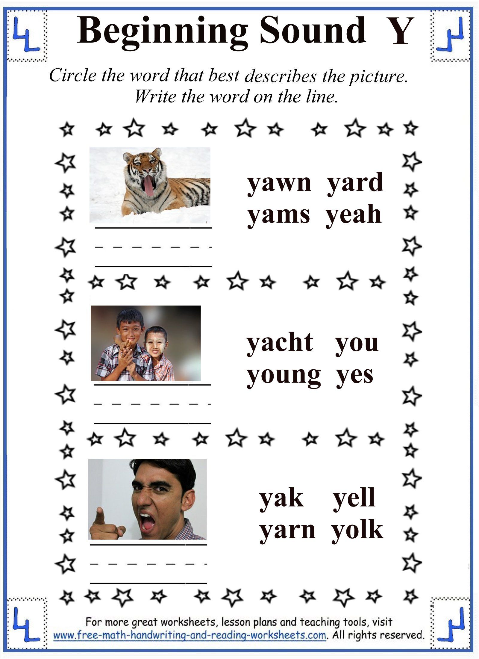 Y Letter Writing Task