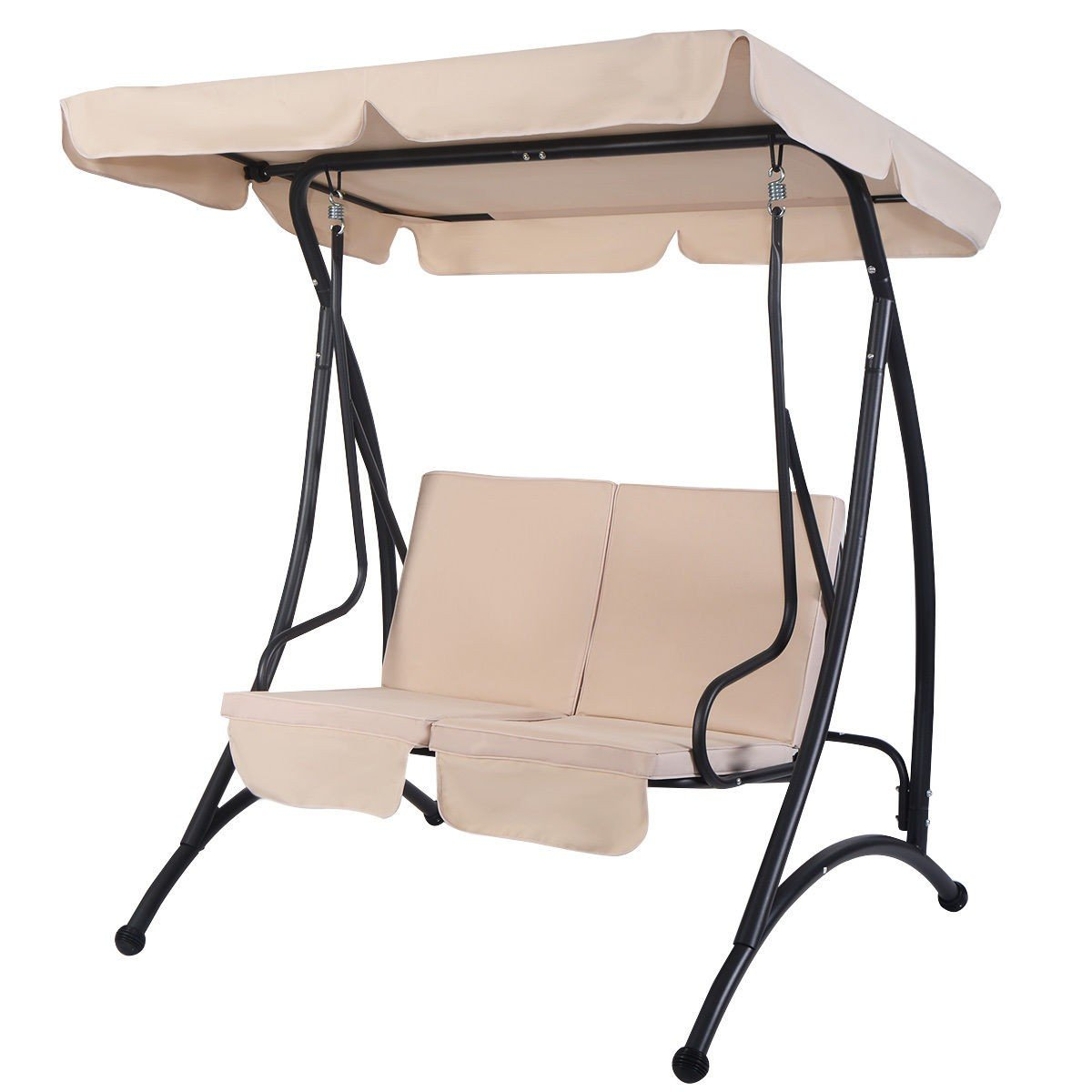 2 person patio canopy swing chair in 2020 canopy swing