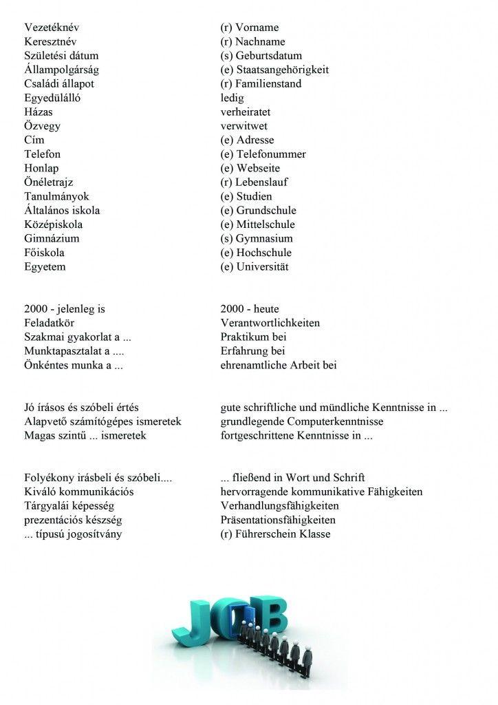 CV német psd | Német | Pinterest