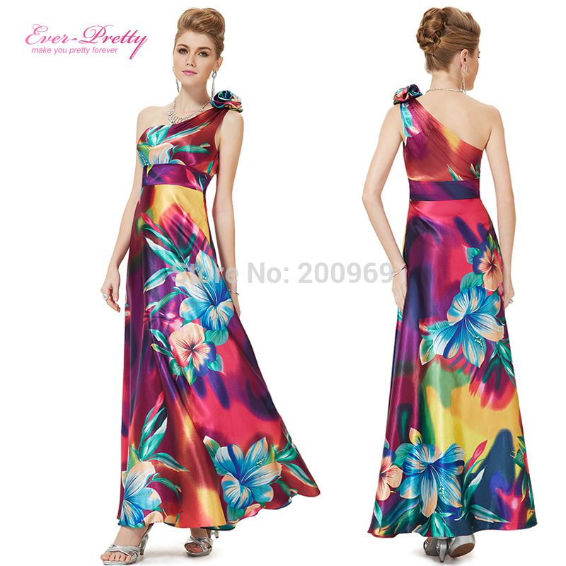 HE09623PP Free Shipping One Shoulder Floral Print Satin Formal Evening Dress Long Celebrity Dresses-in Evening Dresses from Apparel & Accessories on Aliexpress.com | Alibaba Group