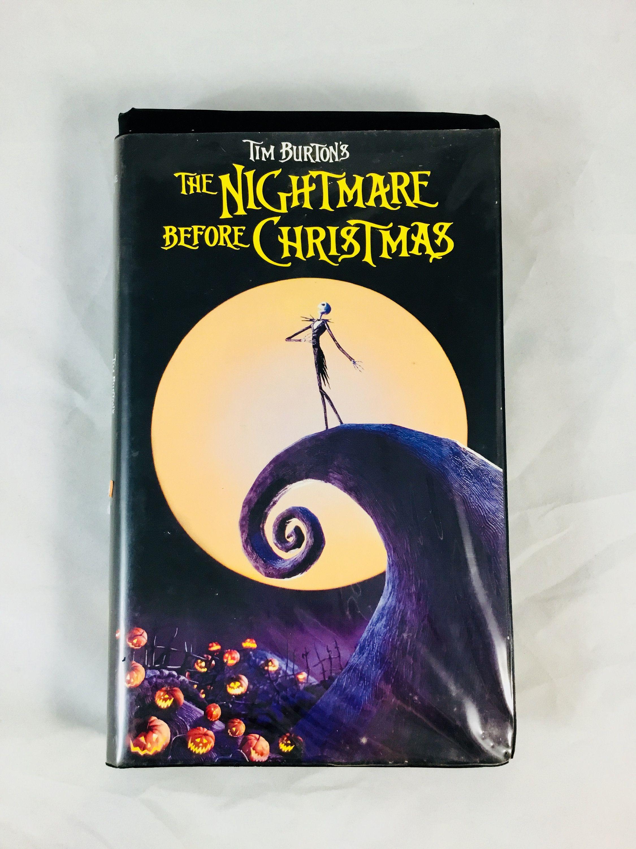 The Nightmare Before Christmas VHS Tape Tim Burton | Movies vhs ...