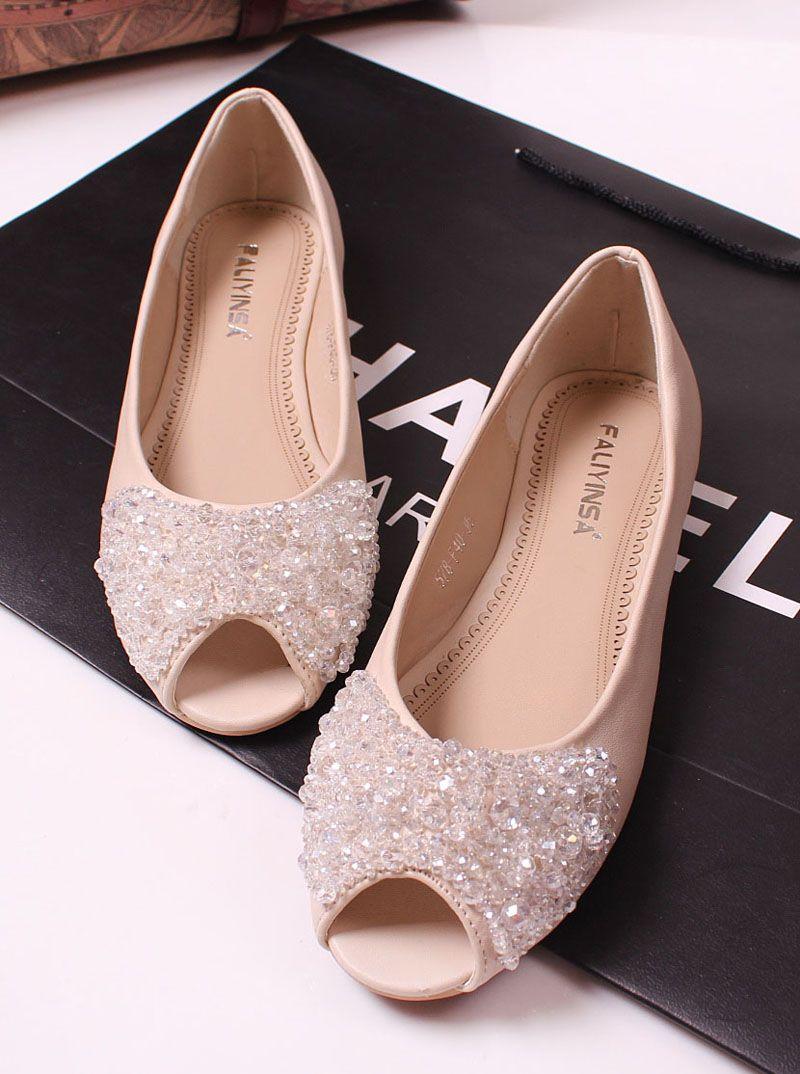 Princess luxury rhinestone beaded flat fashion open toe flat heel sandals  flat female shoes-inSandals from Shoes on Aliexpress.com 7ce8a0c72079