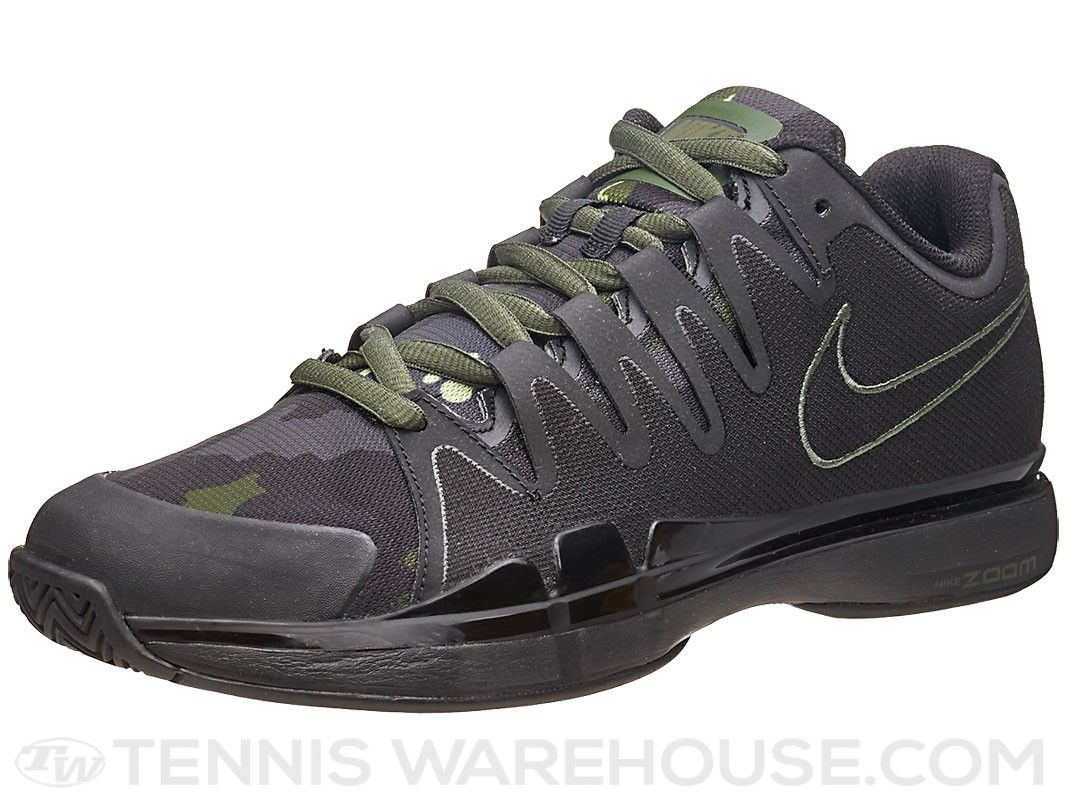 Nike Zoom Vapor 9.5 Tour Black Carbon Green Men s Camo Tennis Shoe ... 573873dbb