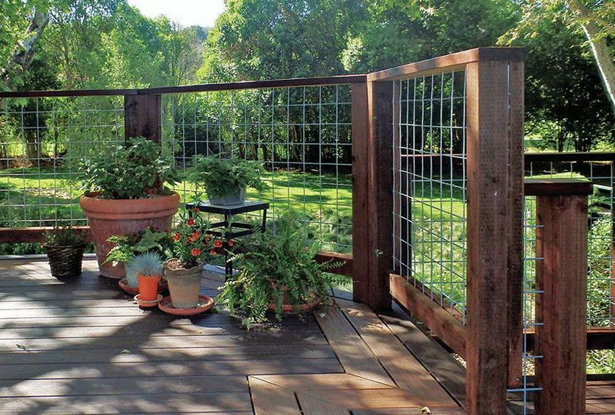 Hog Wire Deck Railing Ideas | Hog Wire Deck Railing Plans . Do You Assume  Hog