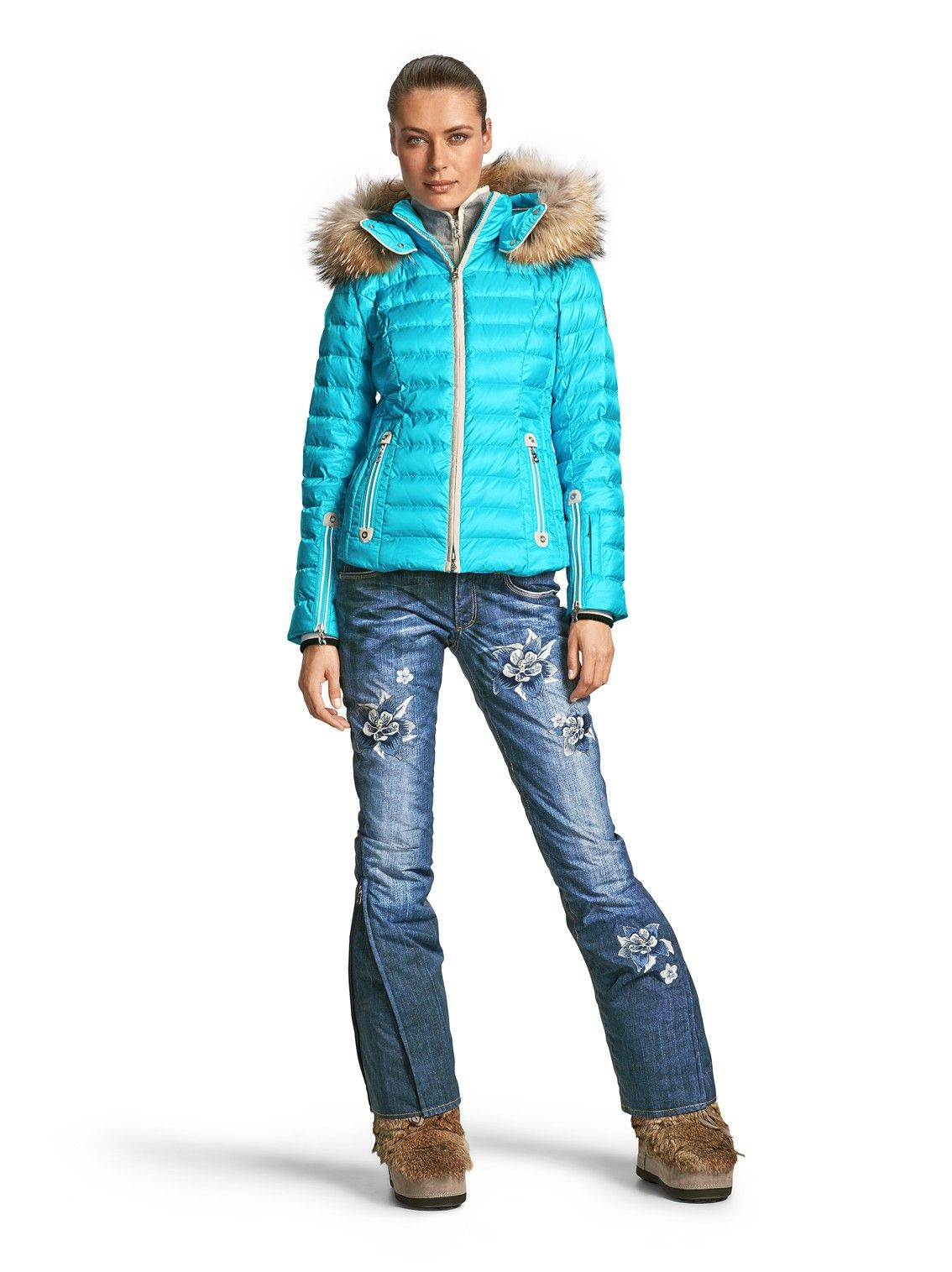 Down Jacket Kylie, Medium Turquoise | Ski Clothing, Down Jackets ...