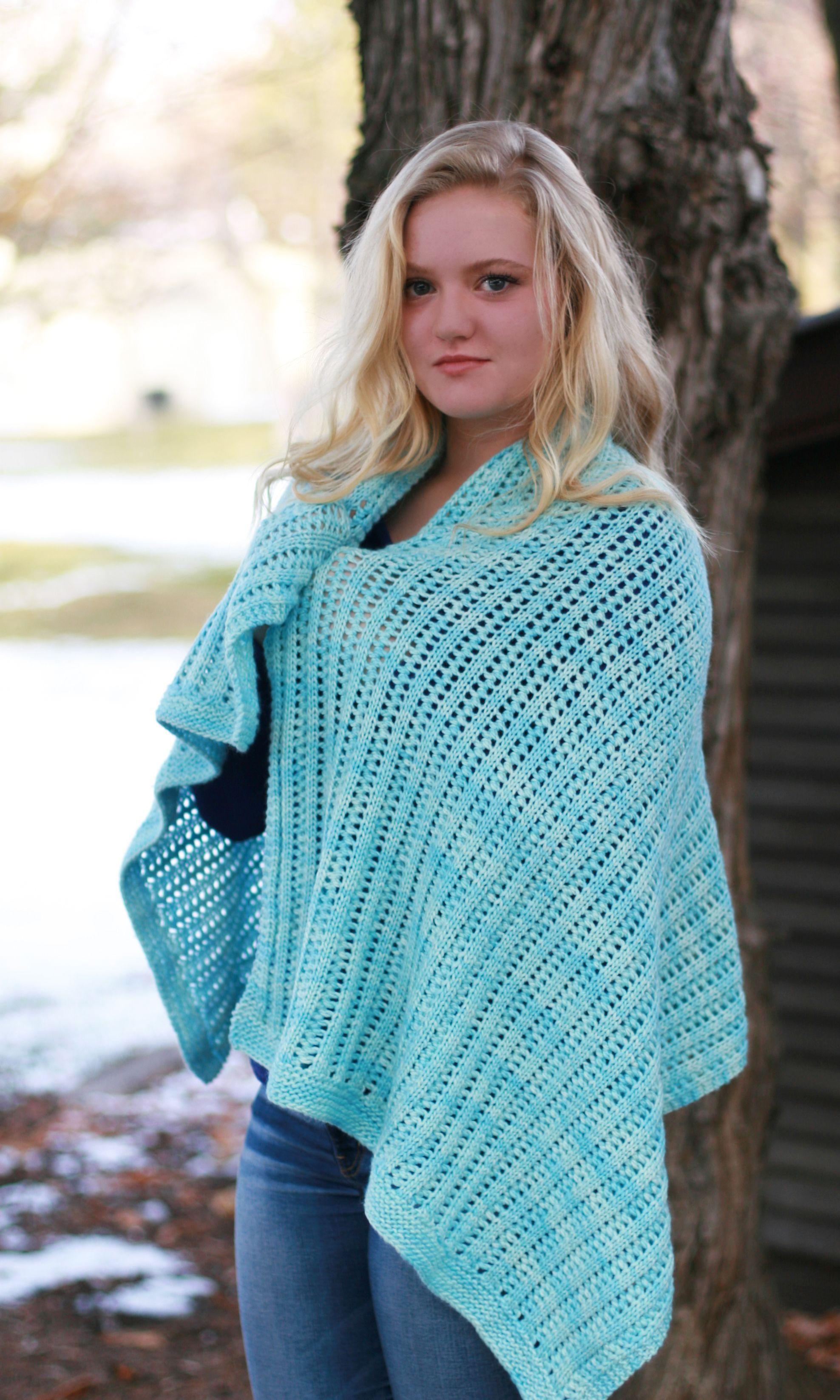 Snow Kisses Shawl - knitting loom - free pattern | 046.. Shawl ...
