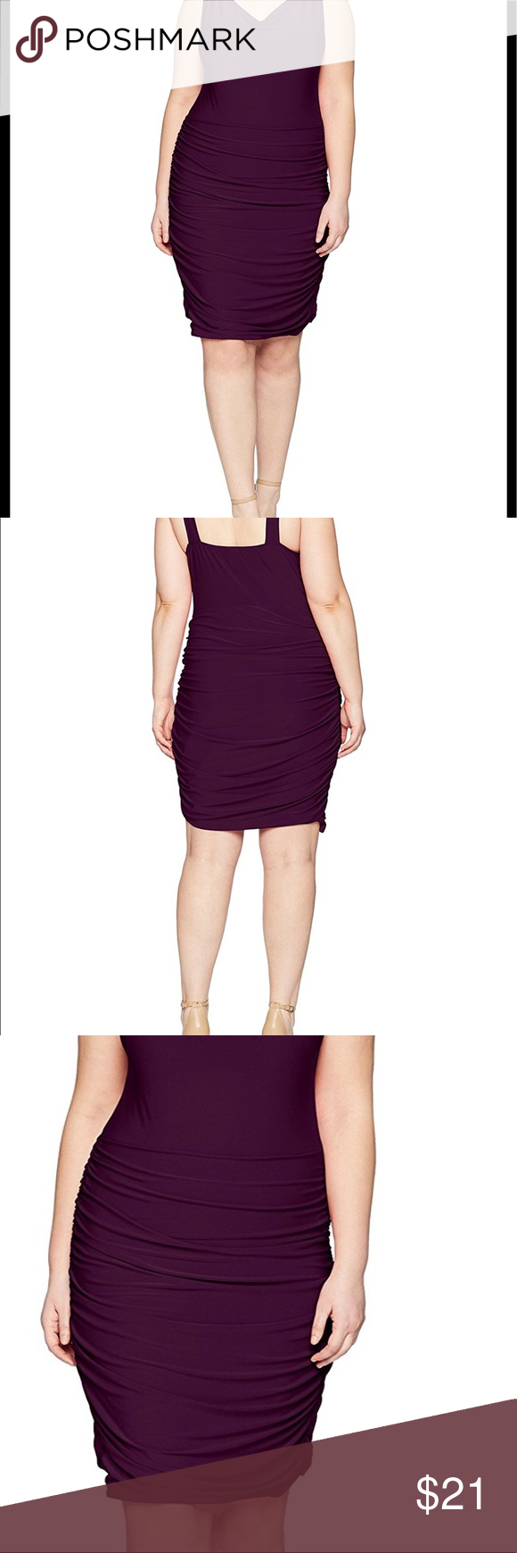 Rouched Sweetheart Stretch Bodycon Dress Plus Sized 92 Polyester 8 Spandex Pull On Closure Dresses Dresses Bodycon Dress Clothes Design [ 1740 x 580 Pixel ]