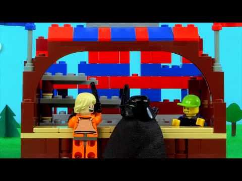 Father's Day stunt from Lego celebrating the most infamous father-son falling out of them all..