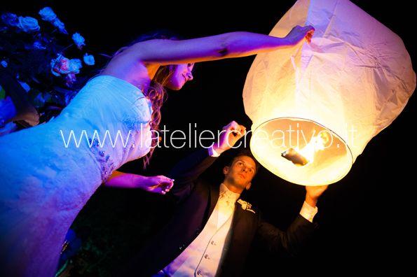 Matrimonio Silvia&James Lancio delle lanterne