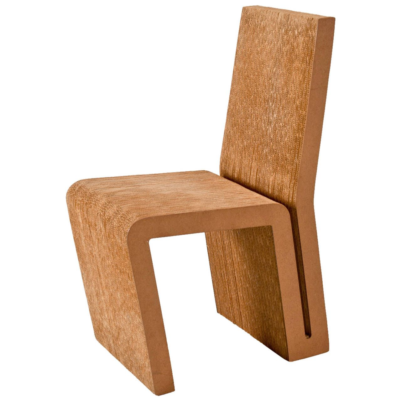 Cardboard furniture techniques how to achieve strength growing up - Frank Gehry Side Chair In Cardboard For Vitra Edition