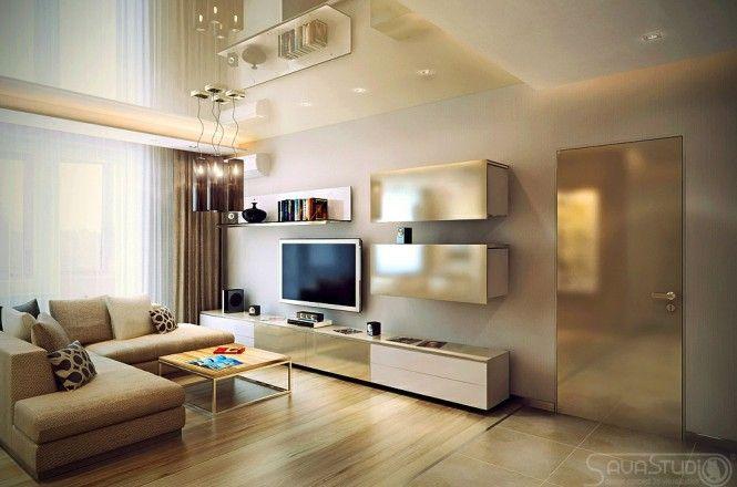 Le petit appartement design de luxe par Savastudio Neutral, Living