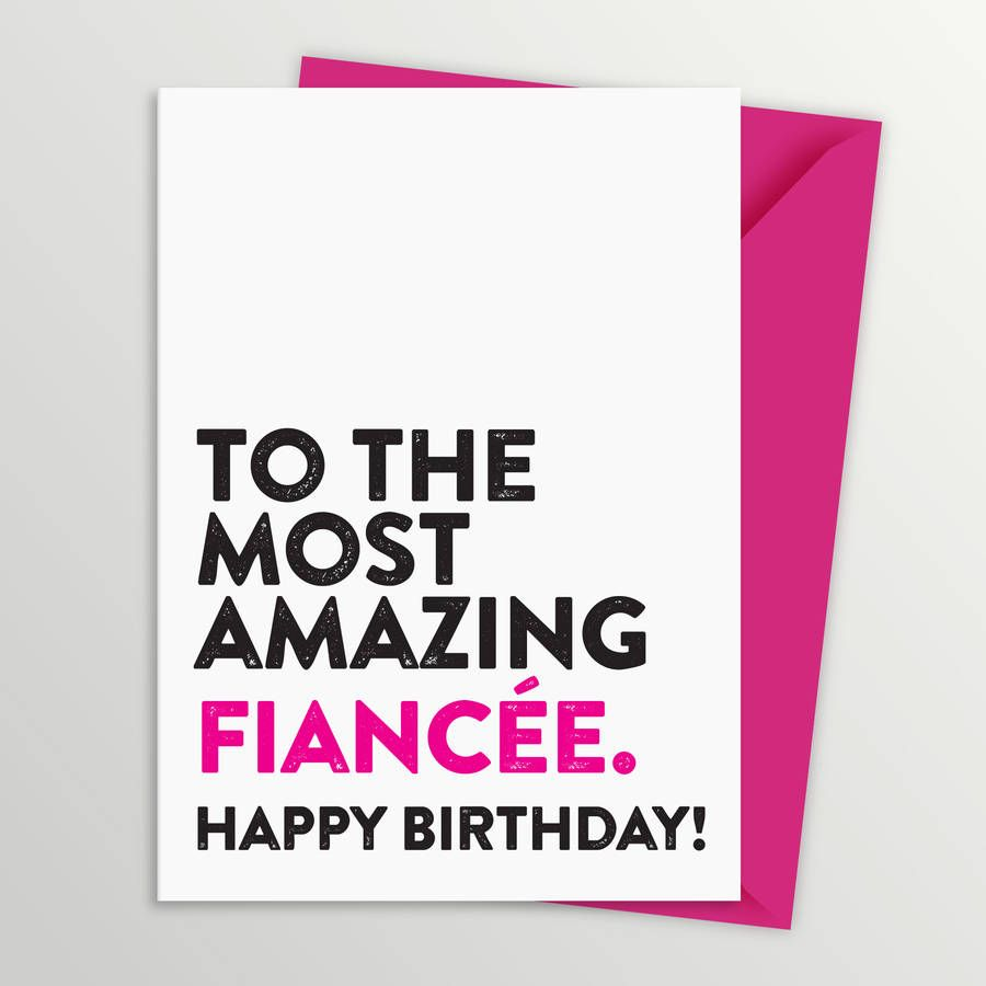 Fiancee Birthday Cards custom photo thank you cards – Fiancee Birthday Card